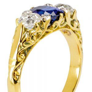 Custom Sapphire & Diamond Ring
