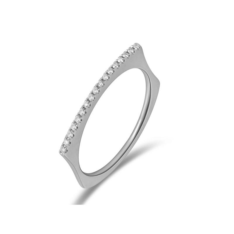 Thin Domed Bar Ring W
