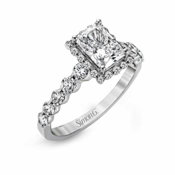 18K White Gold Engagement Ring 0.64Ct Diamond