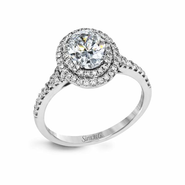 18K White Gold Engagement Ring 0.40Ct Diamond