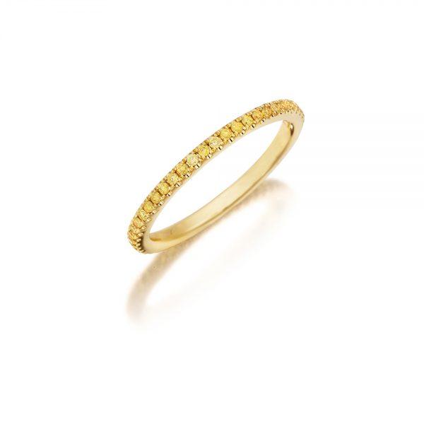 18k Yellow Gold Eternity Band 0.30ct Yellow Diamonds