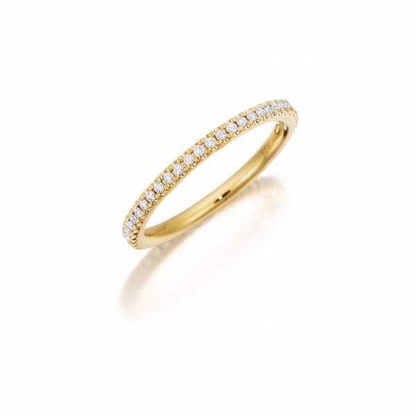 18k Yellow Gold Eternity Band 0.30ct Diamonds