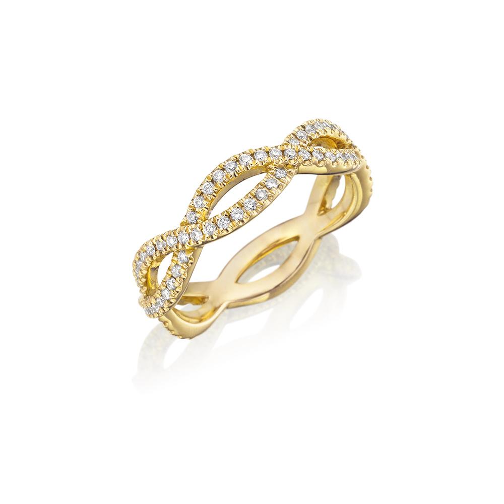 18k Yellow Gold Eternity Band 0.60ct Diamond