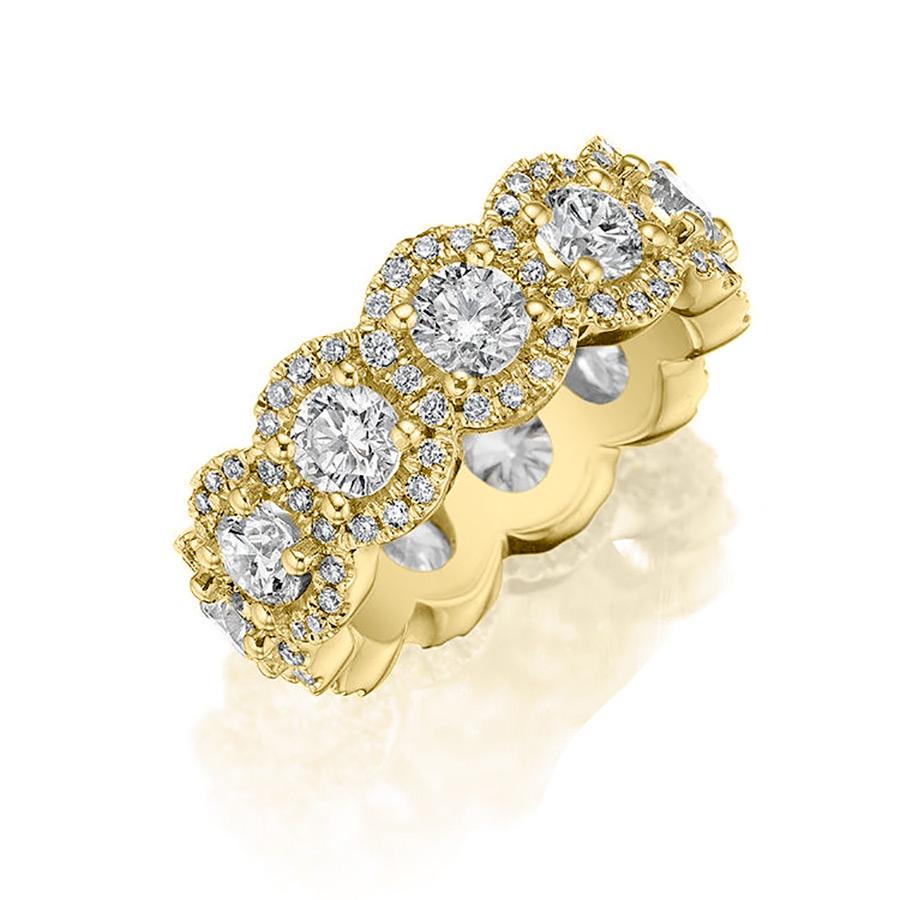 18k Yellow Gold Eternity Band 2.50ct Diamond