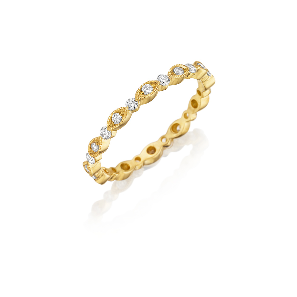 18k Yellow Gold Eternity Band 0.40ct Diamond
