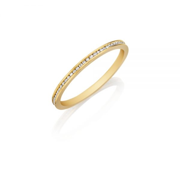 18k Yellow Gold Eternity Band 0.20ct Diamond