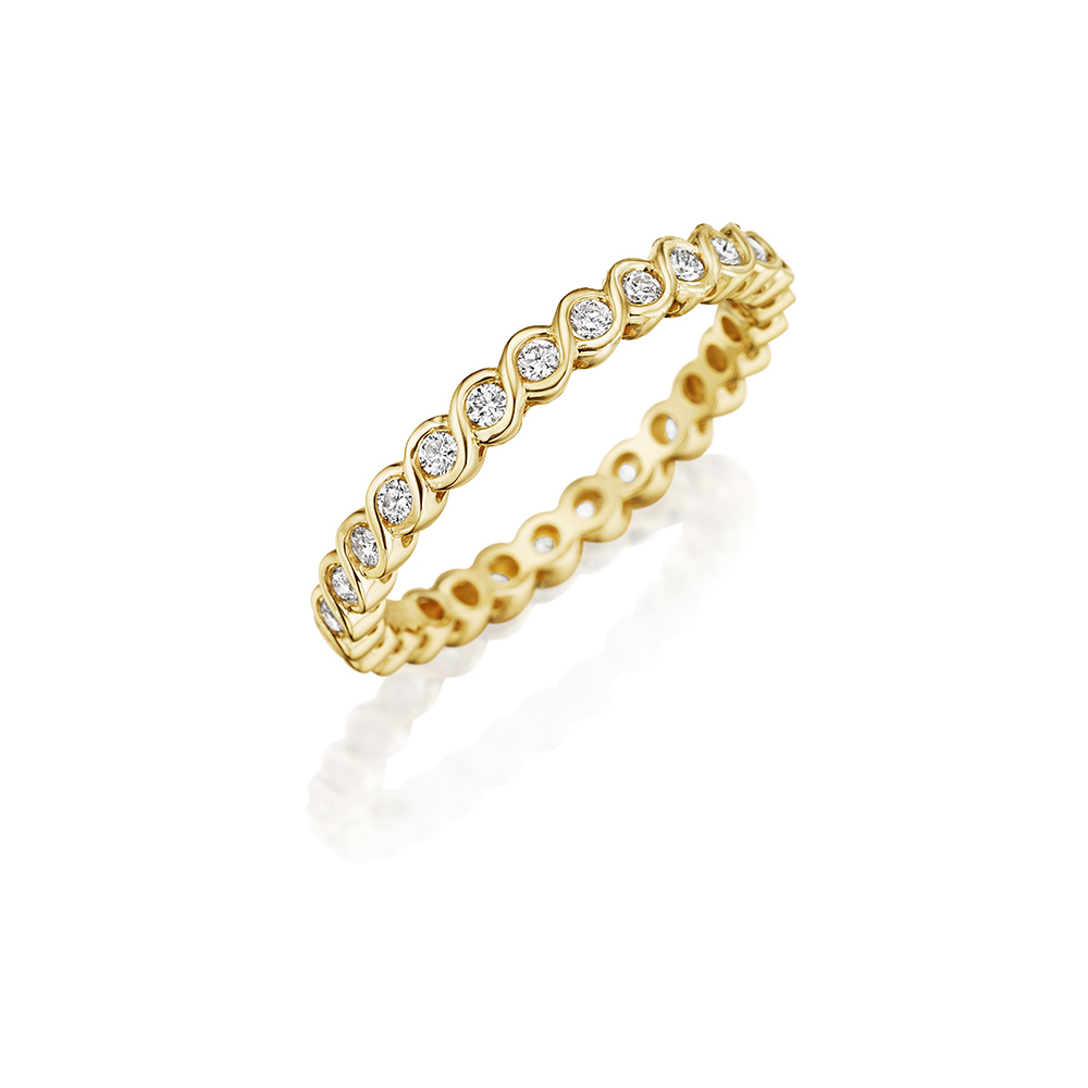 18k Yellow Gold Eternity Band 0.34ct Diamond