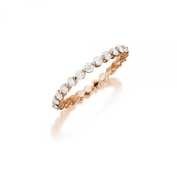 18k Rose Gold Eternity Band 1.00ct Diamond
