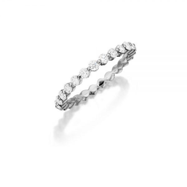 18k White Gold Eternity Band 1.00ct Diamond