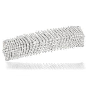 18k White Gold Bracelet With 11.30 ct. Diamonds