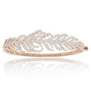 18k Rose Gold Bracelet With 3.10 ct. Diamonds