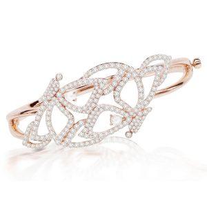 18k Rose Gold Bracelet With 3.48 ct. Diamonds