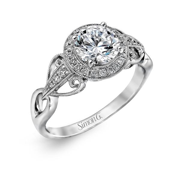 18K White Gold Engagement Ring 0.17Ct Diamond