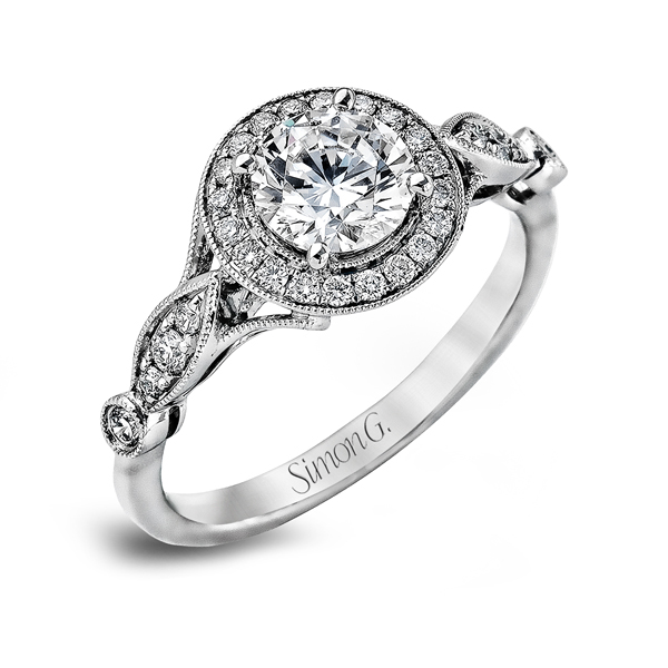 18K White Gold Engagement Ring 0.25Ct Diamond