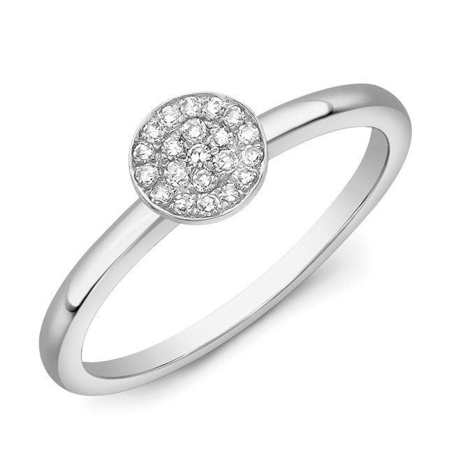 Diamond Disc Ring W