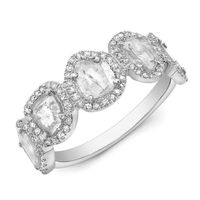 Diamond Slice Band Ring W