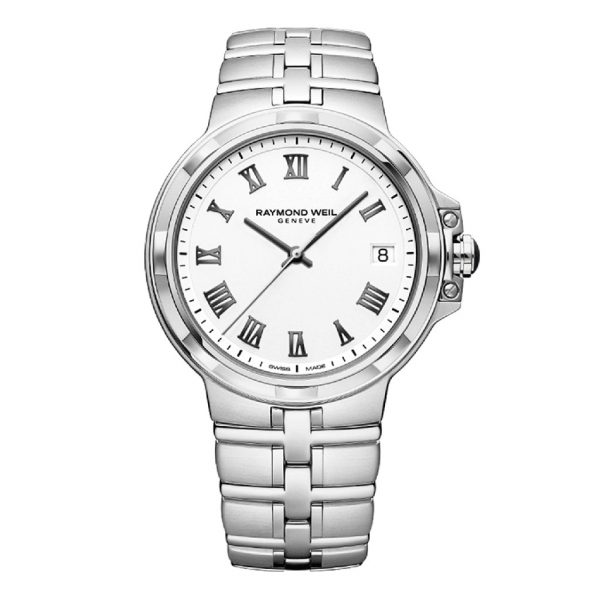Parsifal Mens Silver Quartz Watch Watch