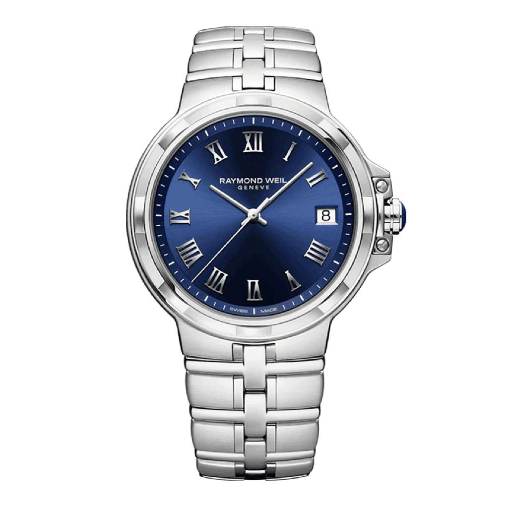 Parsifal Mens Blue Dial Quartz Watch Watch