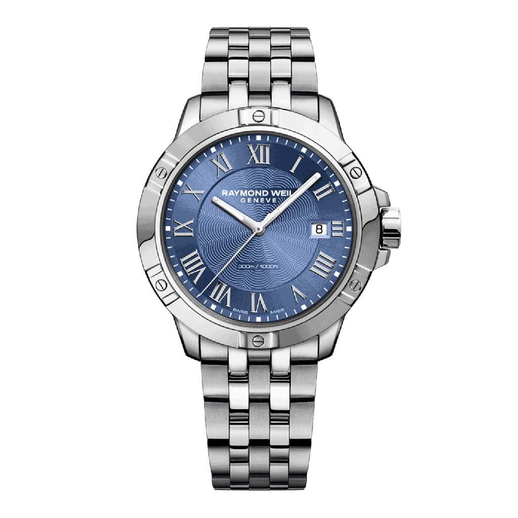 Tango Classic Mens Steel Blue Quartz Watch Watch