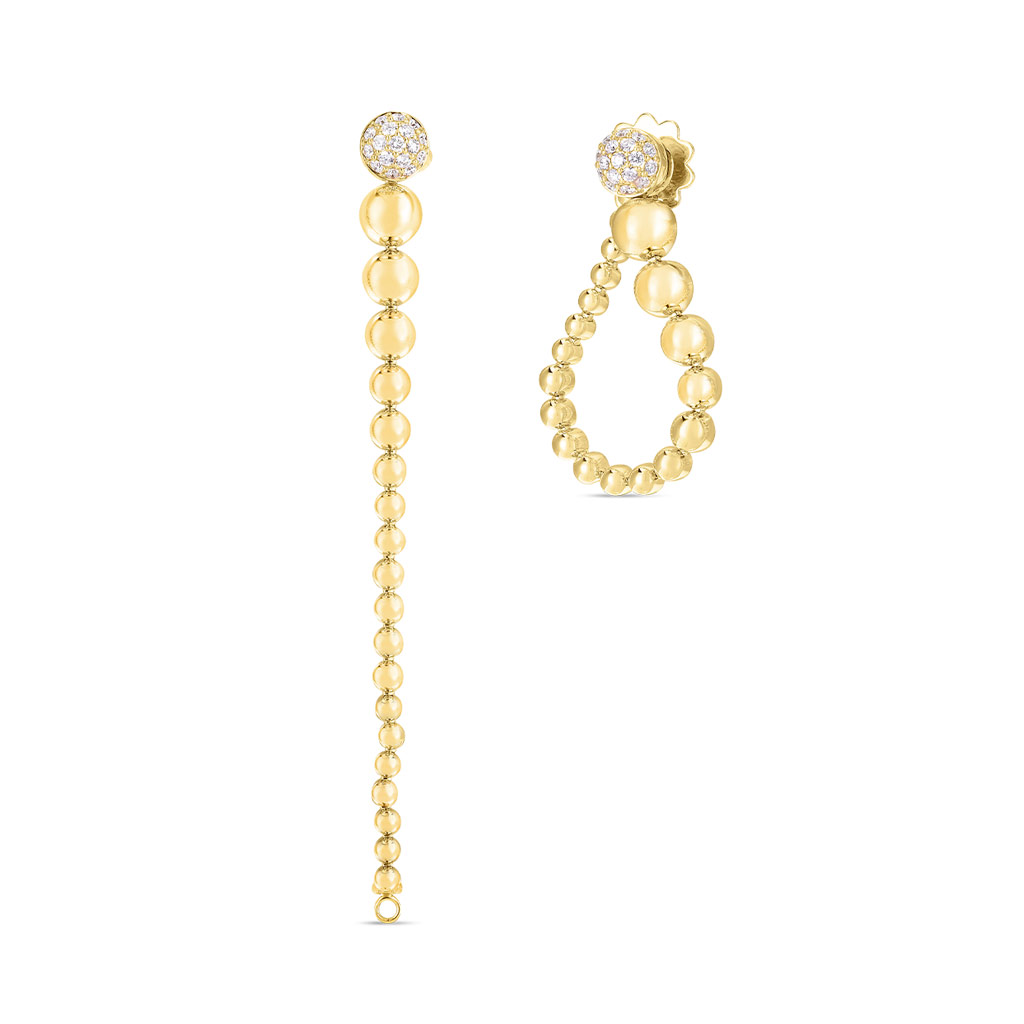 Convertible Gold and Diamond Earring