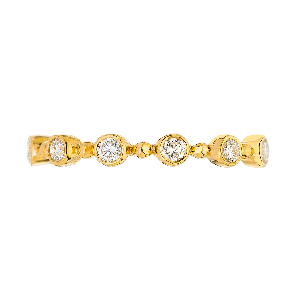 Scallop Diamond Ring Fashion Ring