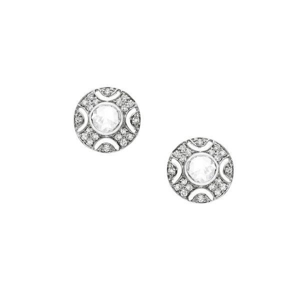 Art Deo Bezel Earrings