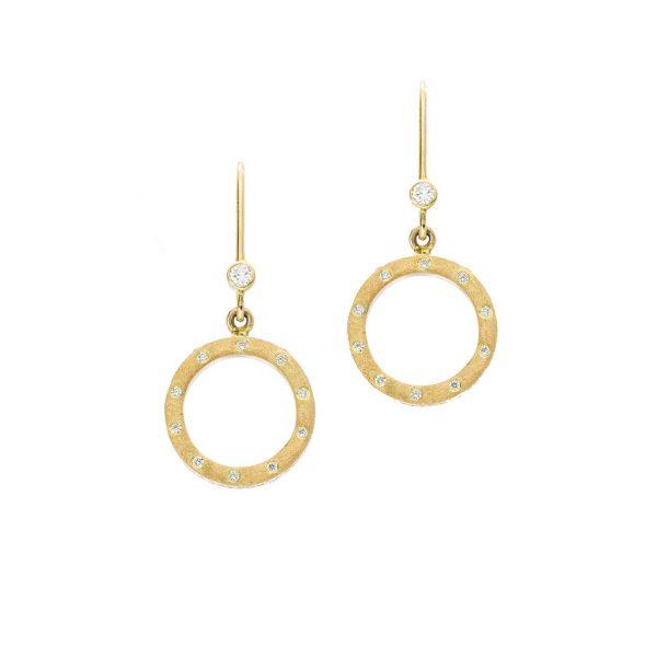 Burnish Set Open Circle Earrings