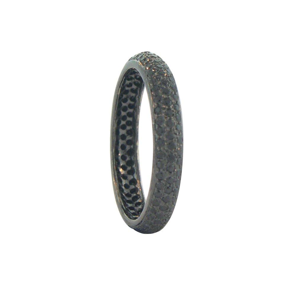 The Tire Black Diamond Eternity Ring