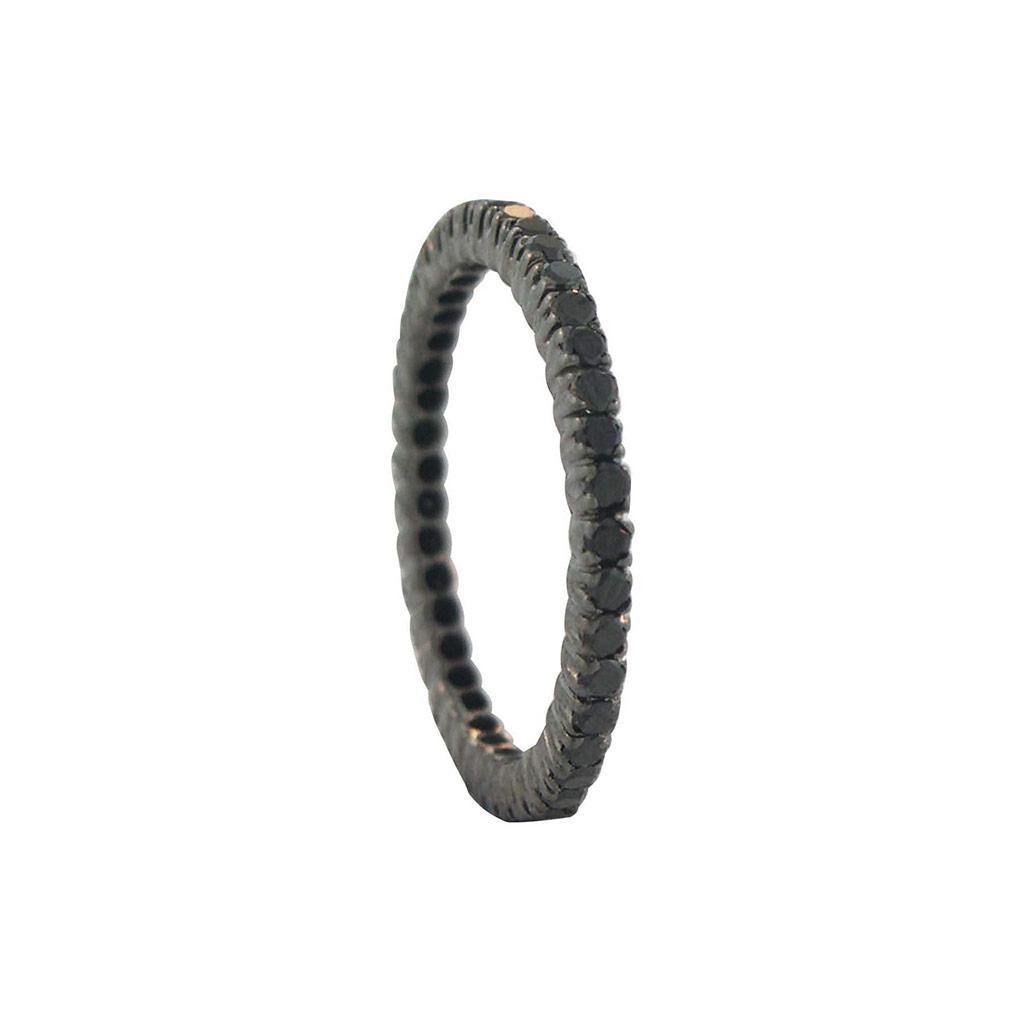 The Prong Black Diamond Eternity Ring