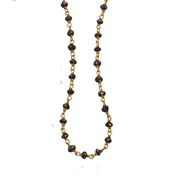 Rough Cut Black Diamond Necklace