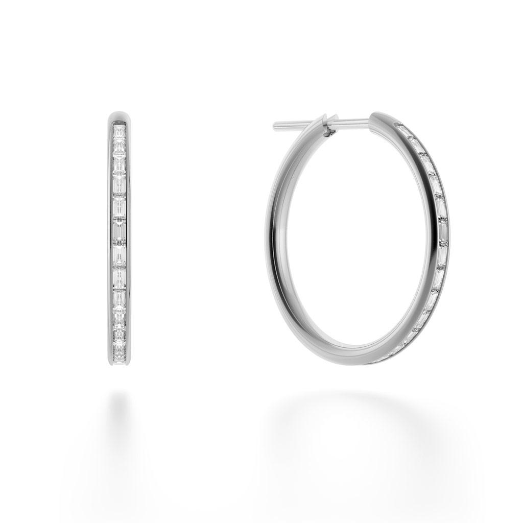 Miri Hoop Diamond Earrings