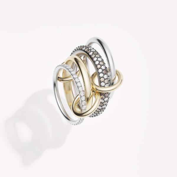 Vega CCW Diamond and Champagne Diamond Ring
