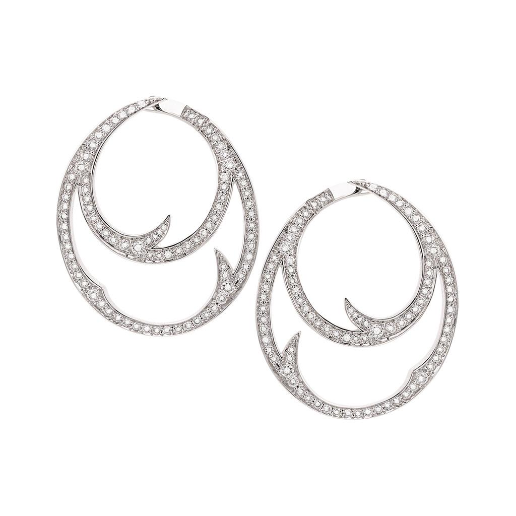 Thorn Double Hoop Earrings