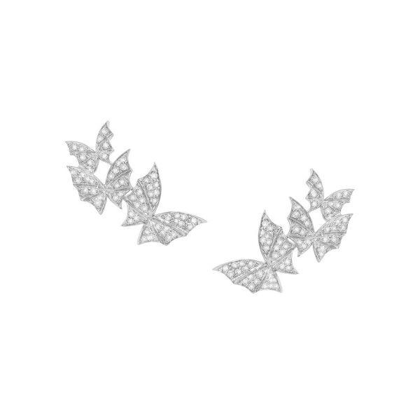 Fly By Night Pave Triple Earrings