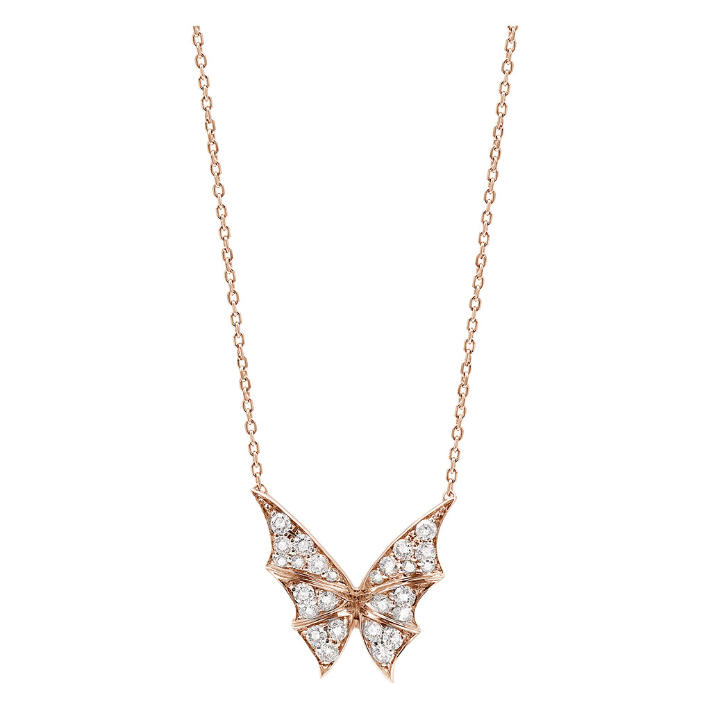 Fly By Night Pave Small Necklace