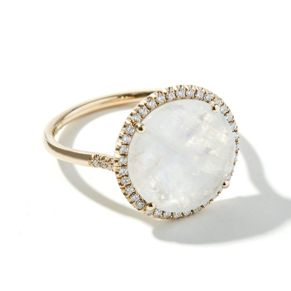 Moonstone Fashion Ring in 14k Yellow Gold