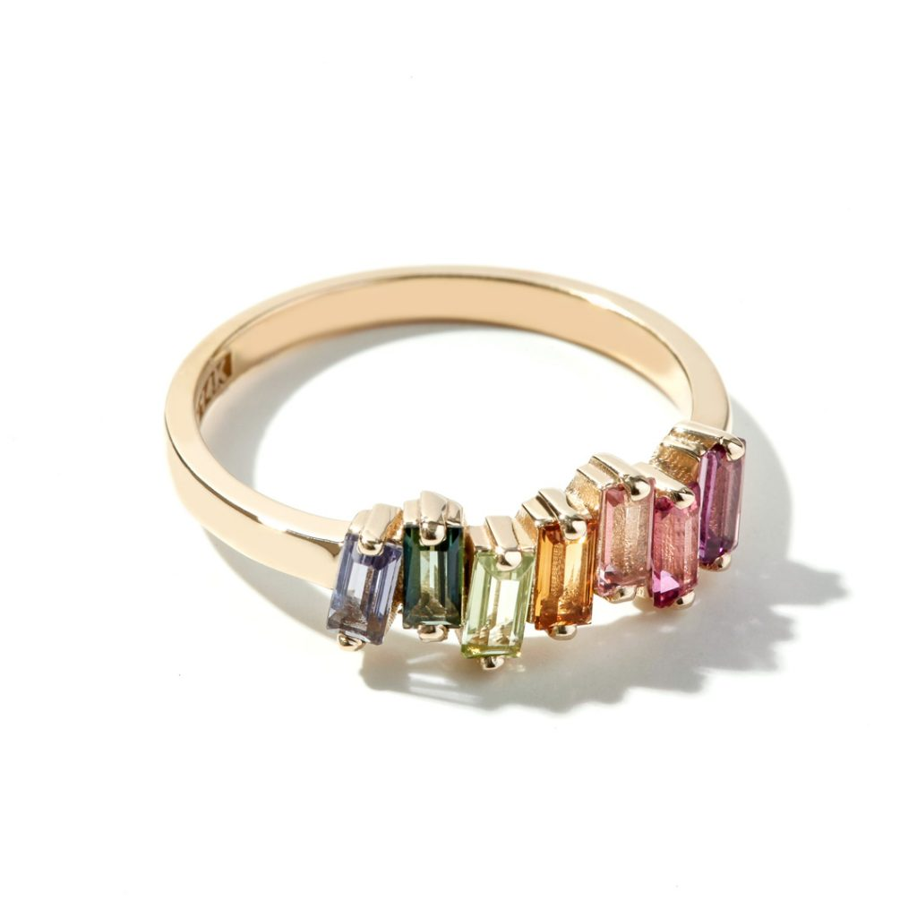 Multi-Stone Fashion Ring in 14k Yellow Gold