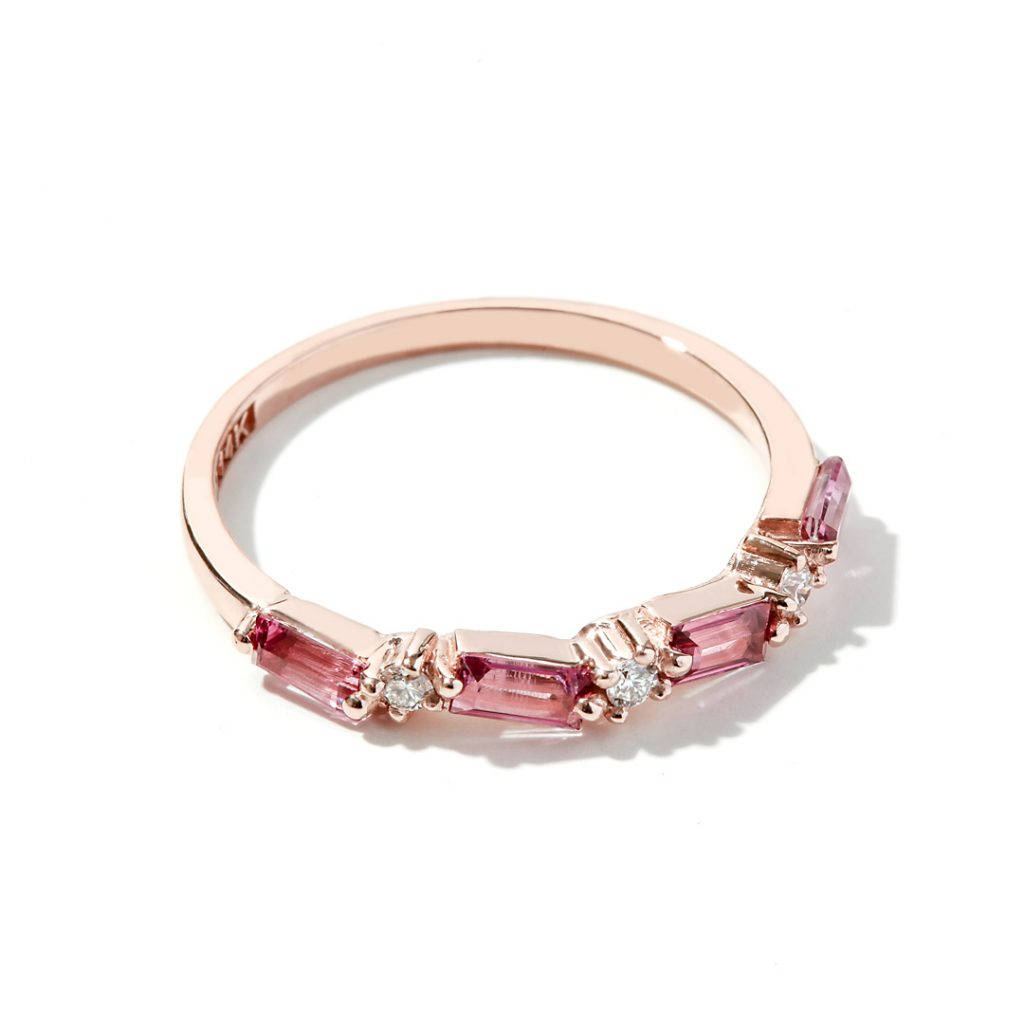 Pink Topaz Fashion Ring in 14k Rose Gold