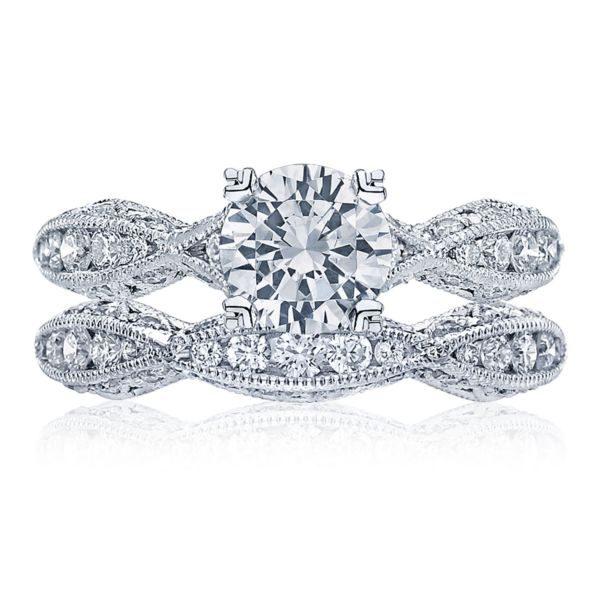 Classic Crescent Diamond Solitaire Engagement Ring