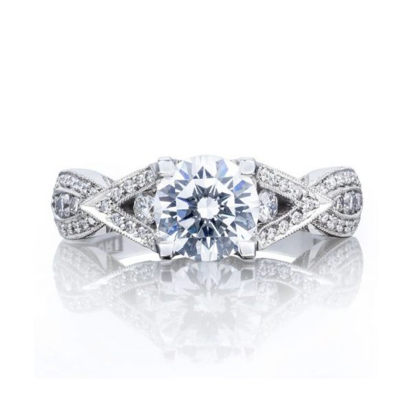 Ribbon Diamond Solitaire Engagement Ring