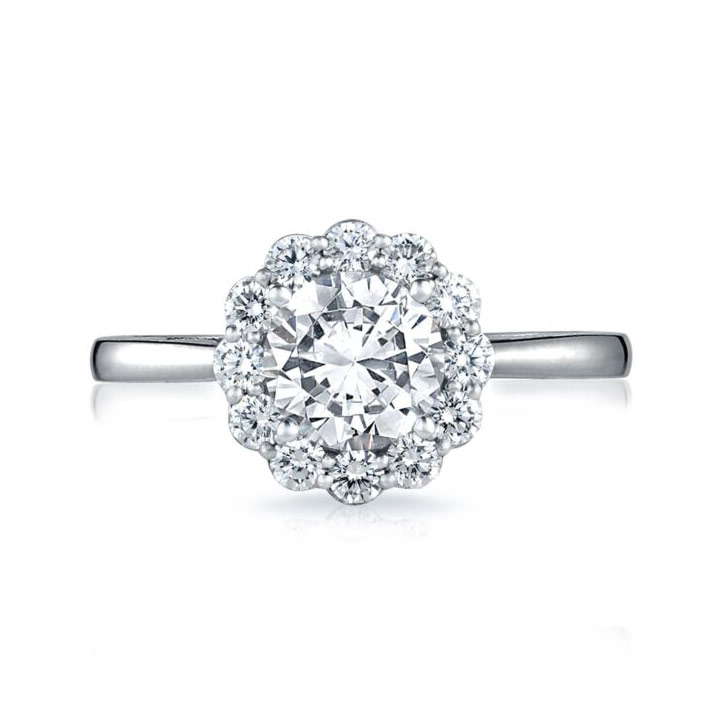 Full Bloom Diamond Solitaire Engagement Ring