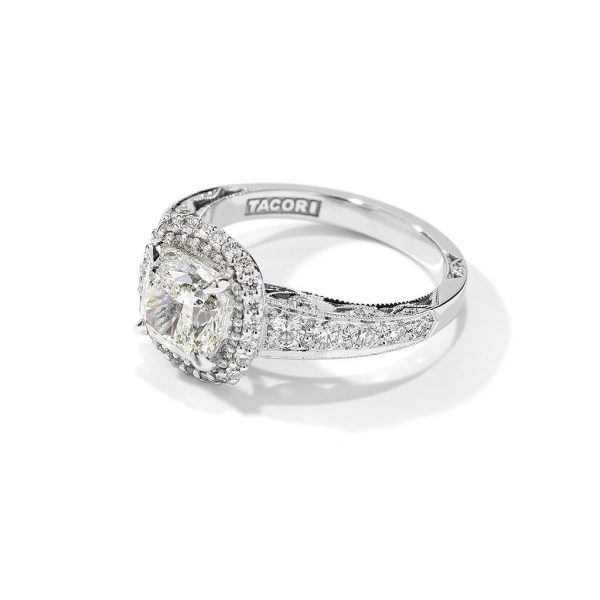 Blooming Beauties Cushion Halo Engagement Ring