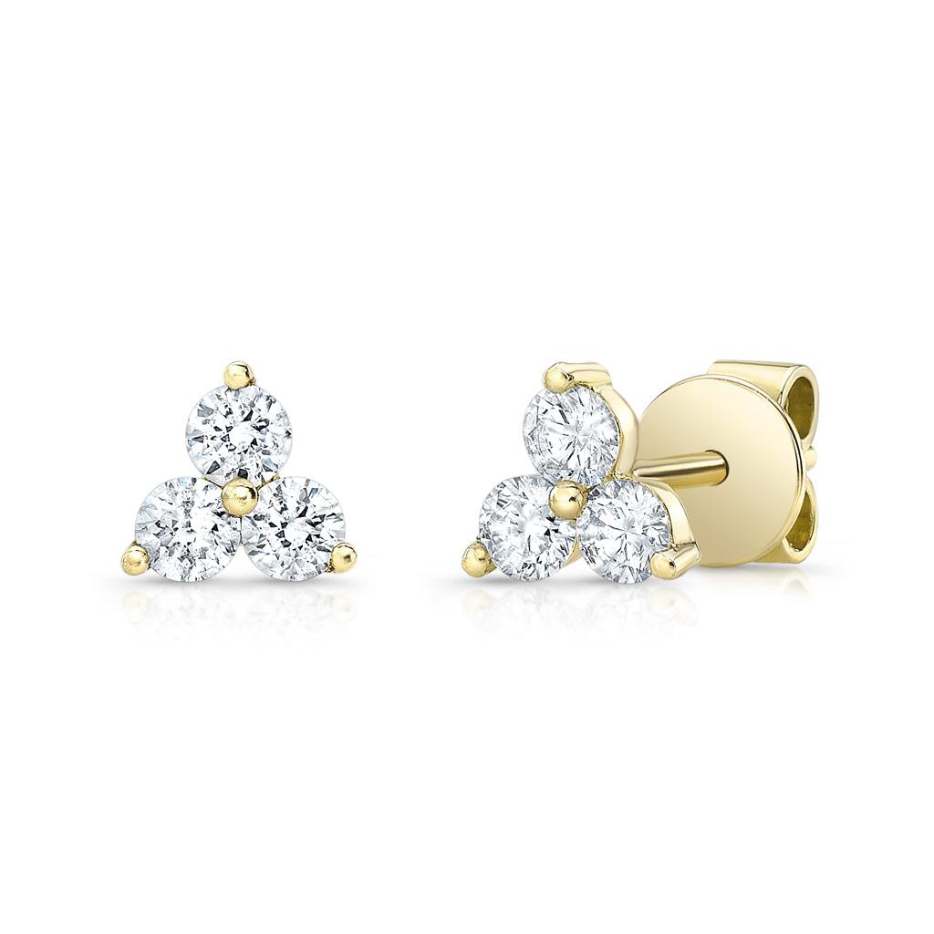 Diamond Trio Stud Earrings