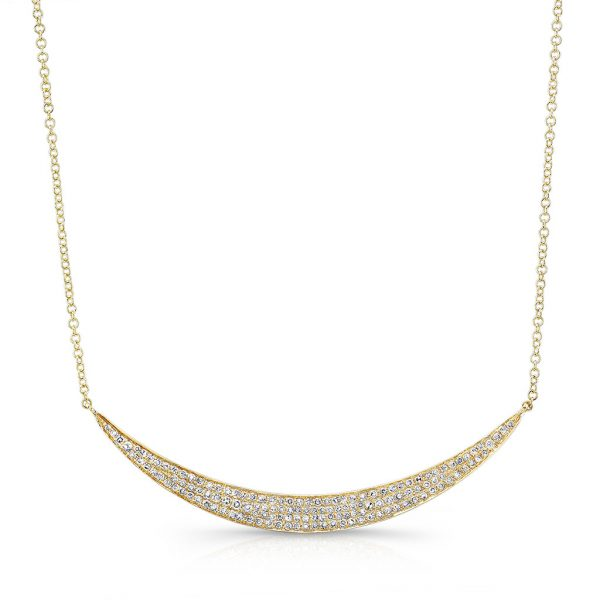 Wide Crescent Necklace