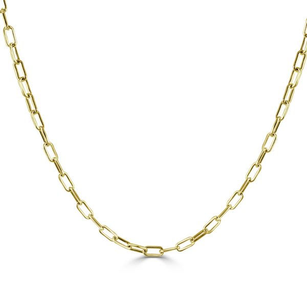 Gold Paperclip Link Necklace- Baby