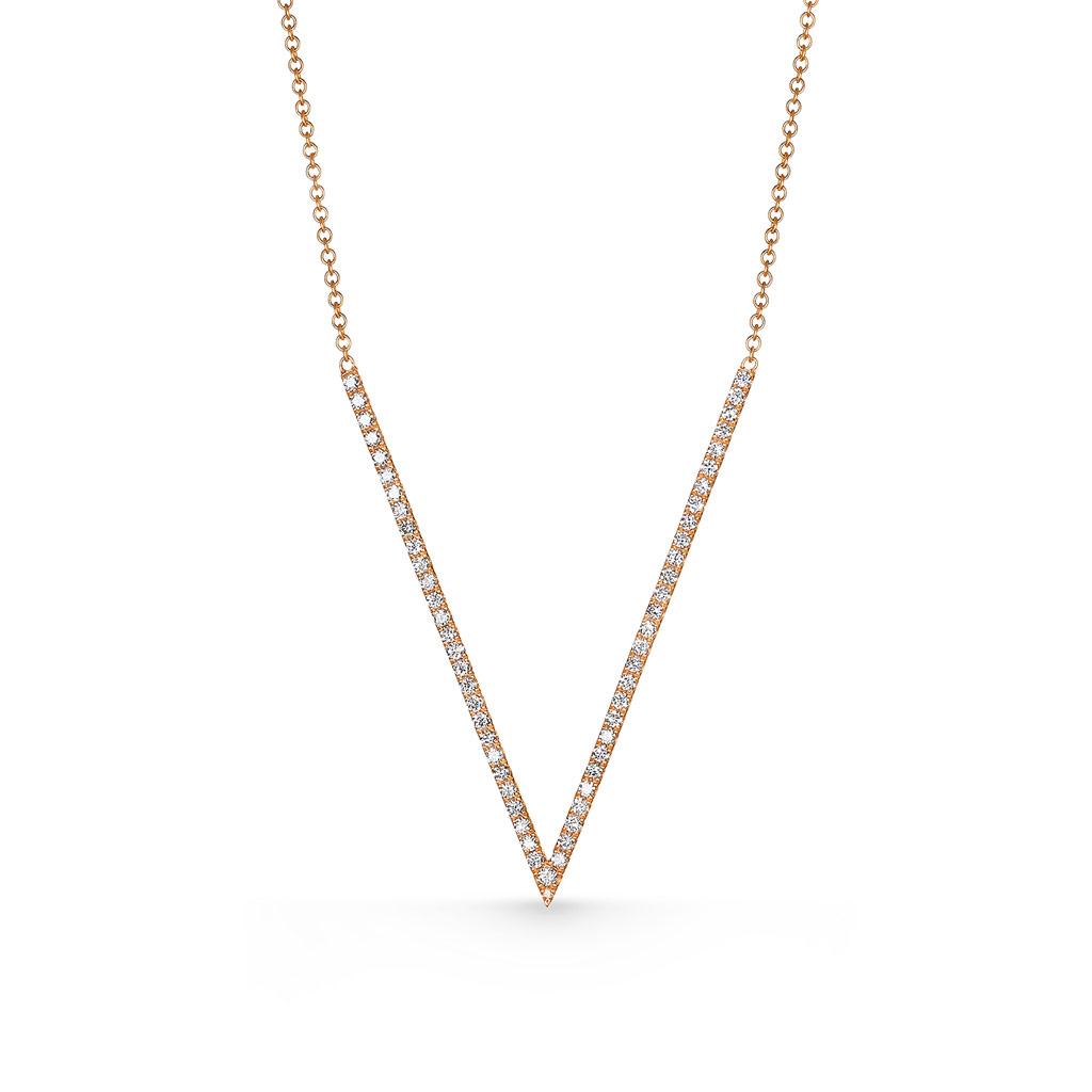 V Diamond Necklace