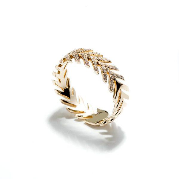 Arrow Diamond Ring