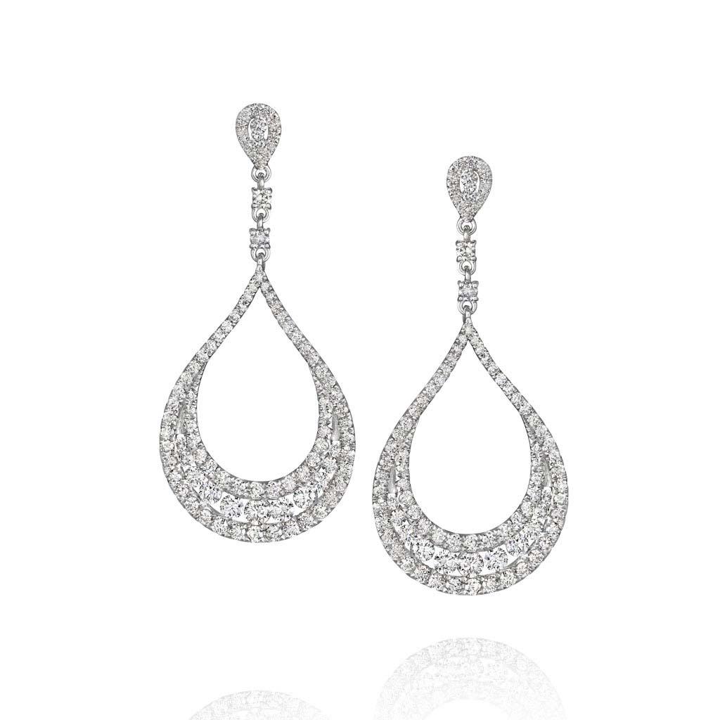 Tear Drop Diamond Earrings