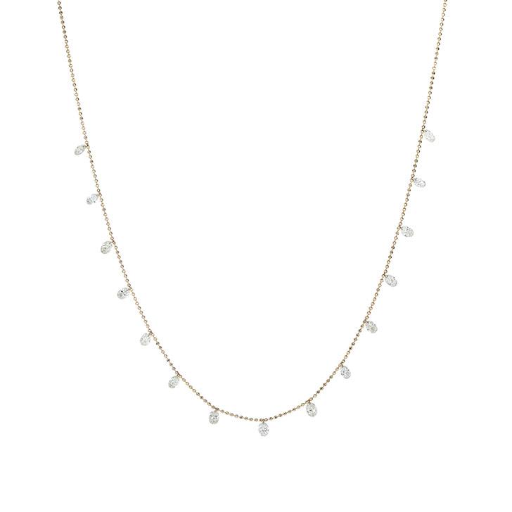 Diamond Dangle Diamond Necklace