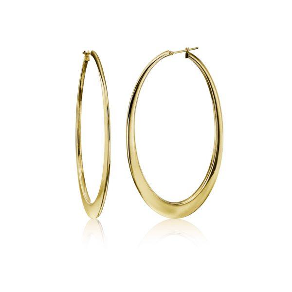 Large Oval Hoop Earrings